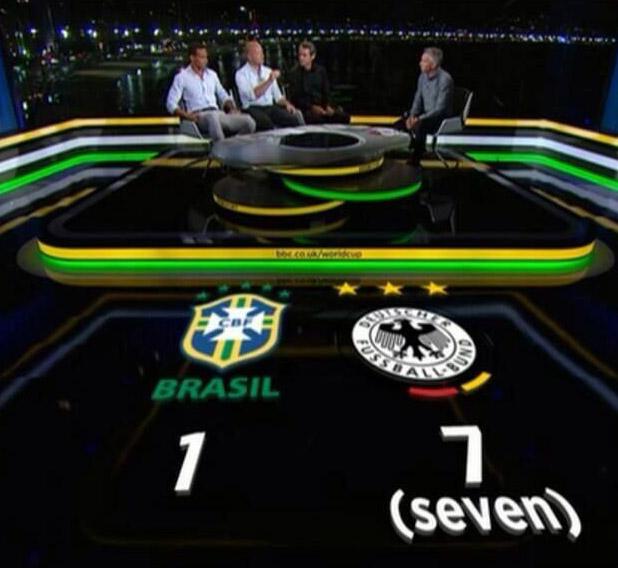 Brasilien Deutschland 1:7